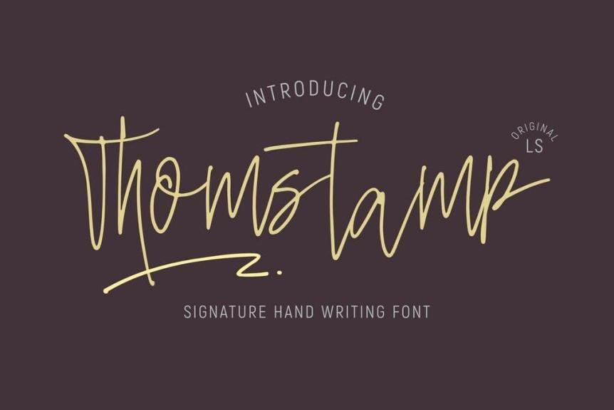 Thomstamp Font