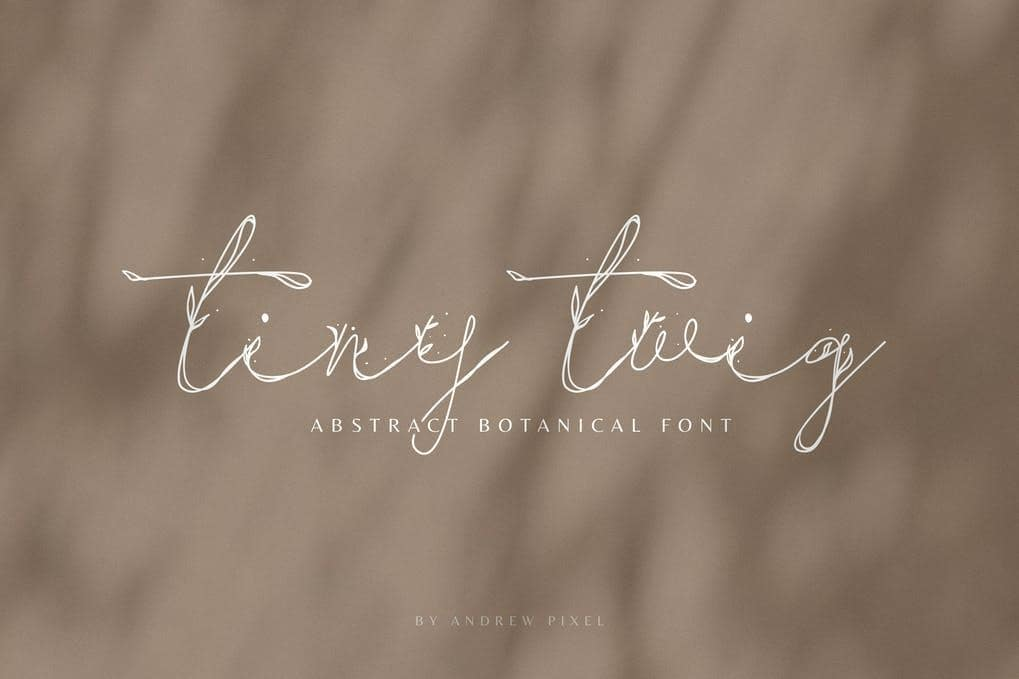 Tiny Twig - Botanical Display Font