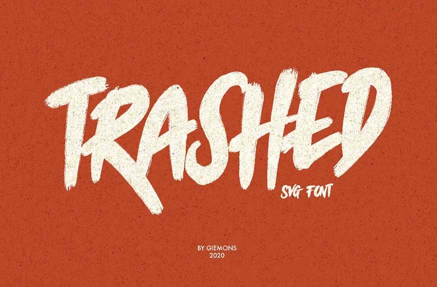 Trashed Typeface