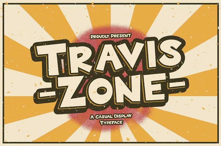 Travis Zone - Playful Display Font