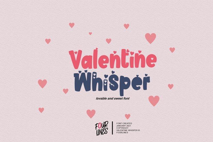 Valentine Whisper Font
