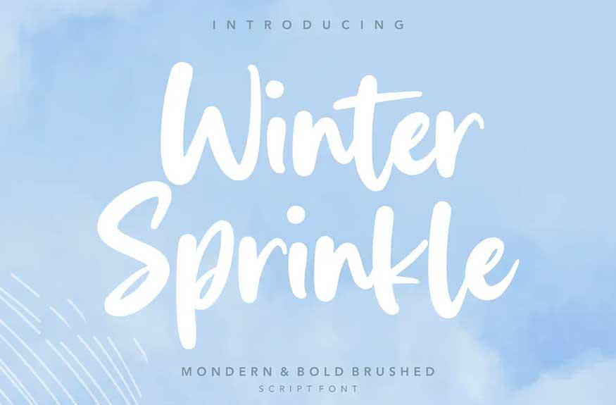 Winter Sprinkle Bod Script Font