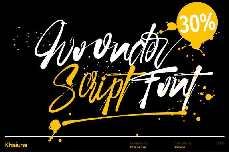 Woonder Script Font