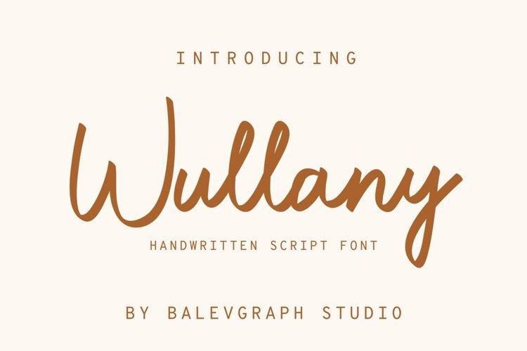 Wullany Brush Script Font