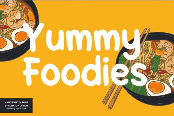 Yummy Foodies Font