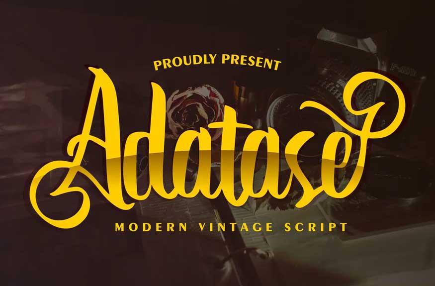 Adatase Font