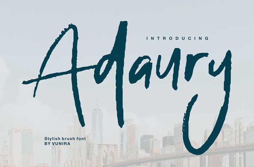 Adaury | Stylish Brush Font