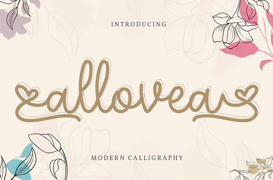 Allovea   Modern Calligraphy Font
