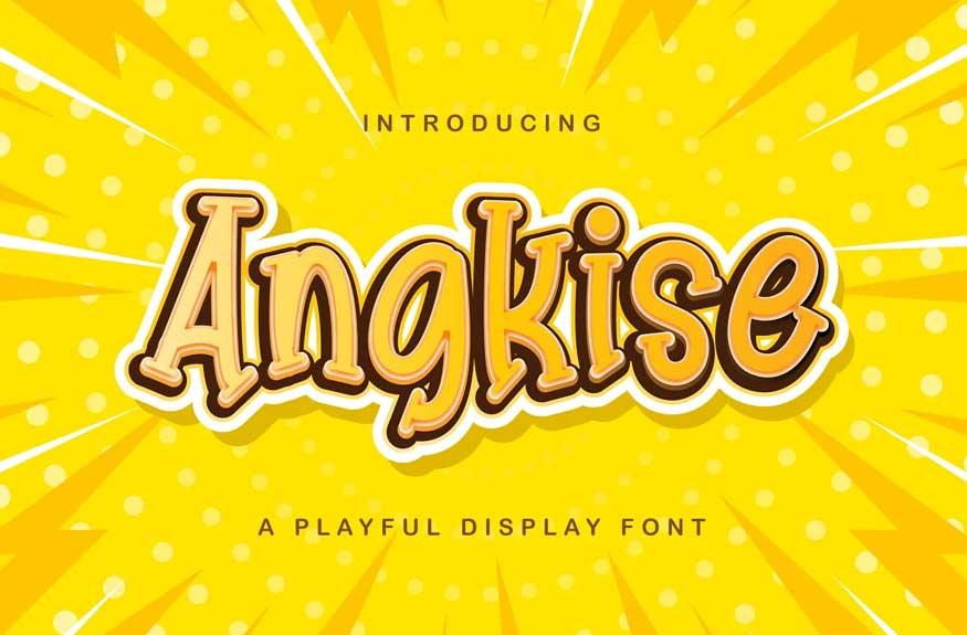 Angkise - Playful Display Font