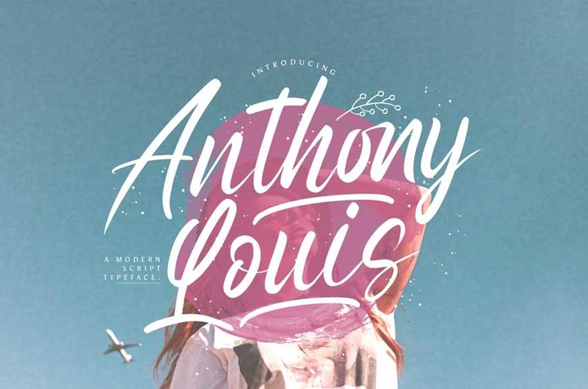 Anthony Louis - Modern Script Font