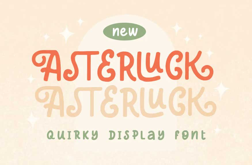 Asterluck - Quirky Display Font