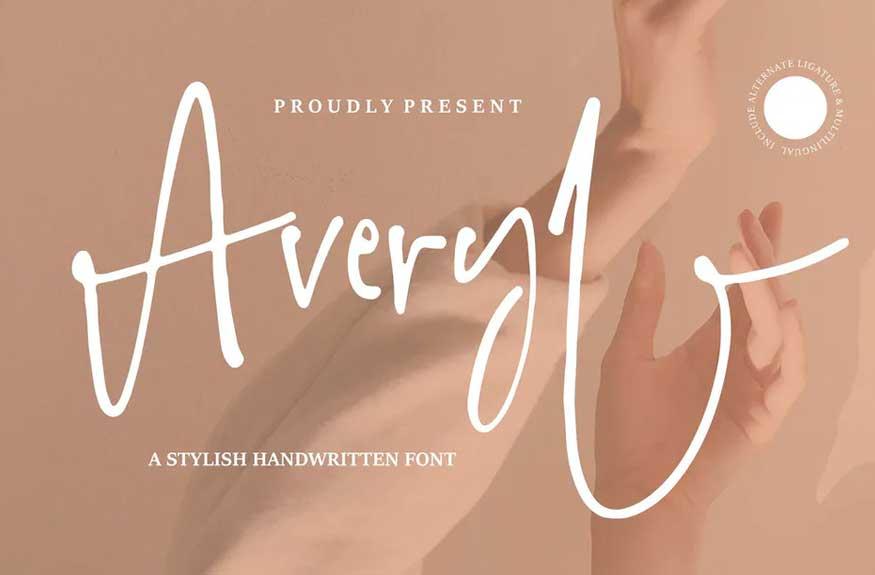 Averyl   A Stylish Handwritten Font