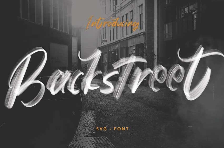 Backstreet - SVG Font