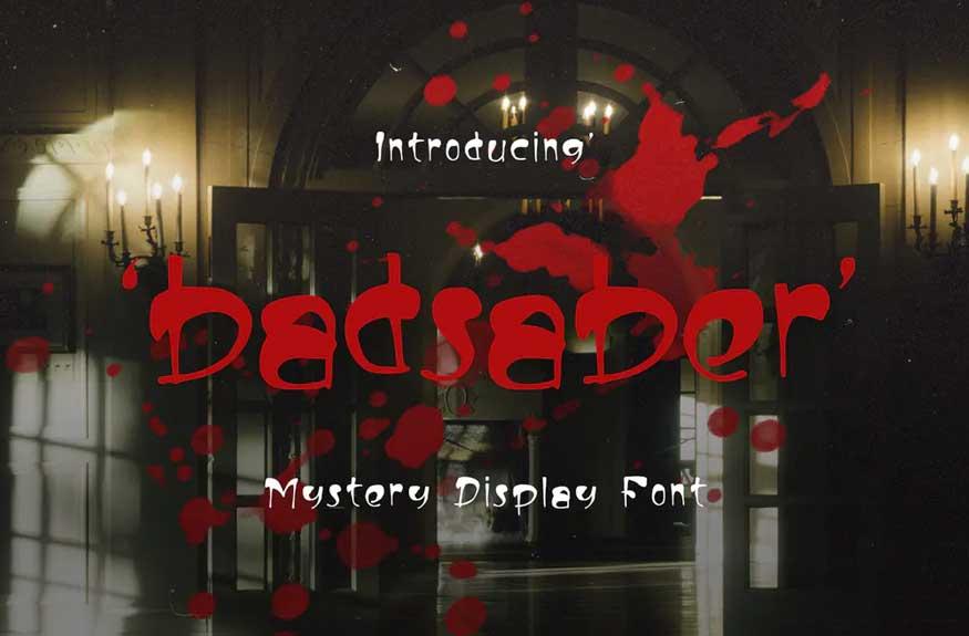 Badsaber Font