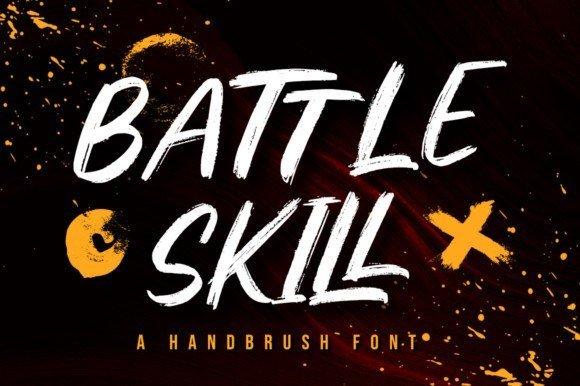 Battle Skill Font