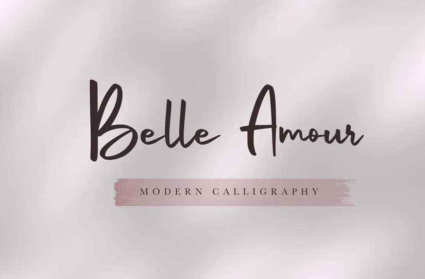 Belle Amour - Modern Calligraphy