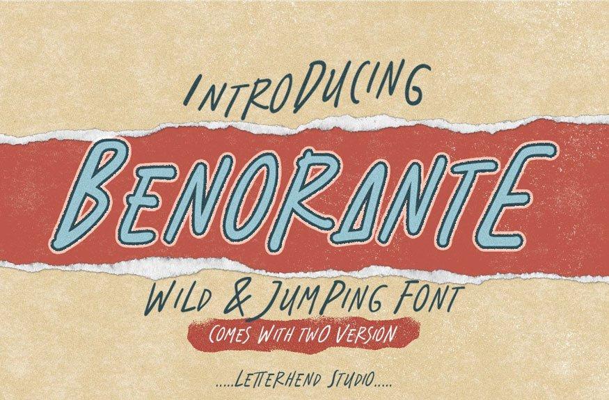 Benorante - Display Font
