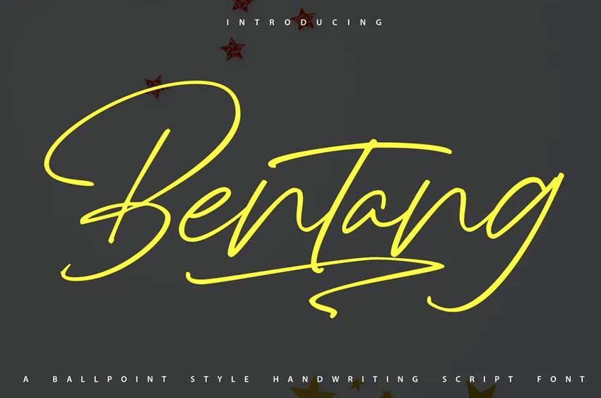 Bentang | Handwriting Script Font
