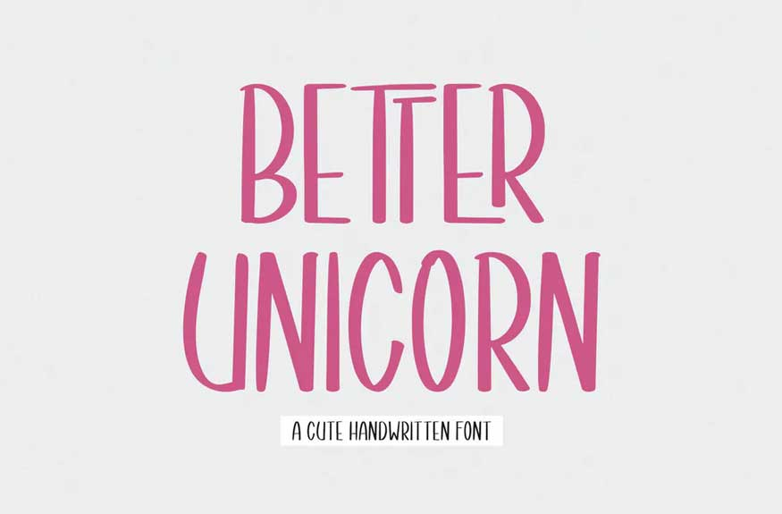 Better Unicorn Font