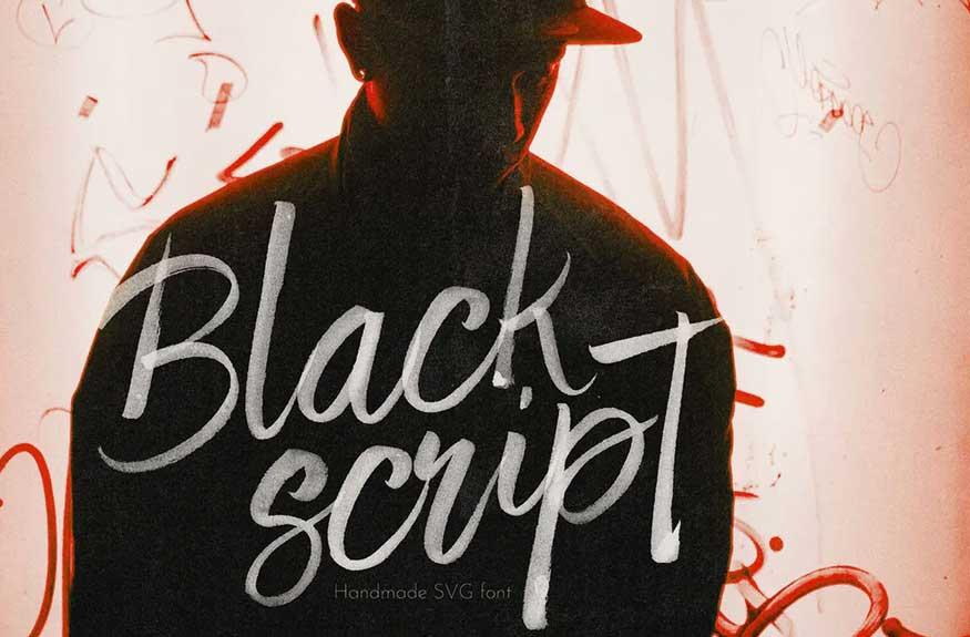 Black Script SVG Font