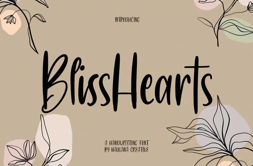 BlissHearts Font