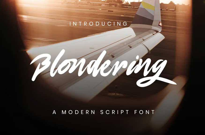 Blonderng Font