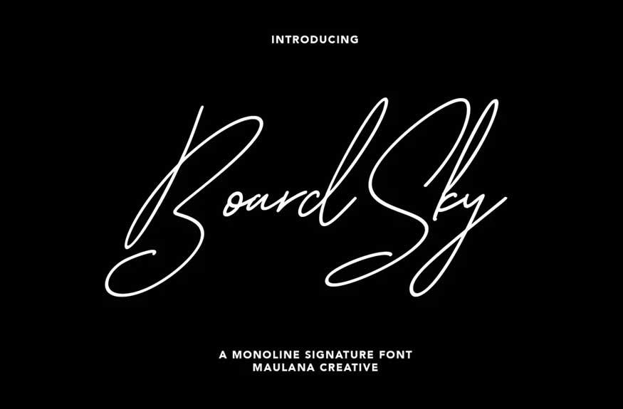 Boardsky Font