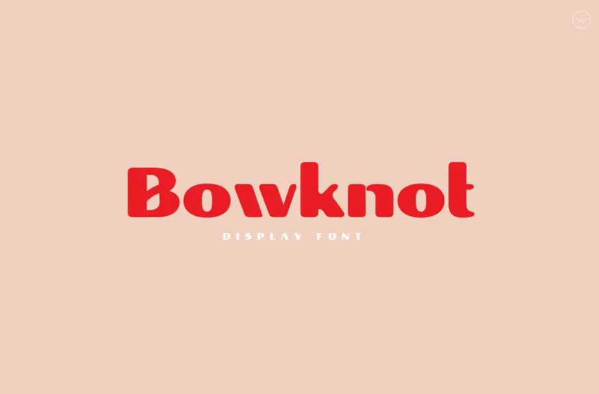 Bowknot Font