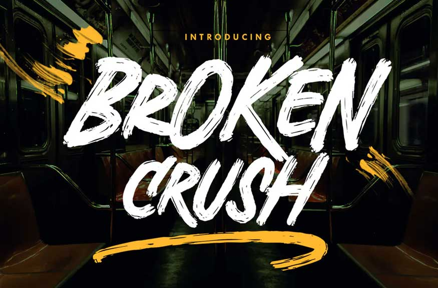 Broken Crush Font
