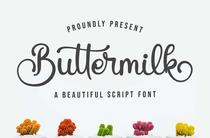 Buttermilk - Beautiful Script Font