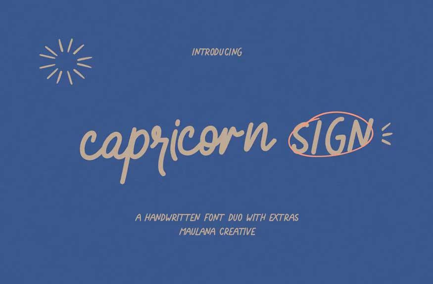 Capricorn Sign Font