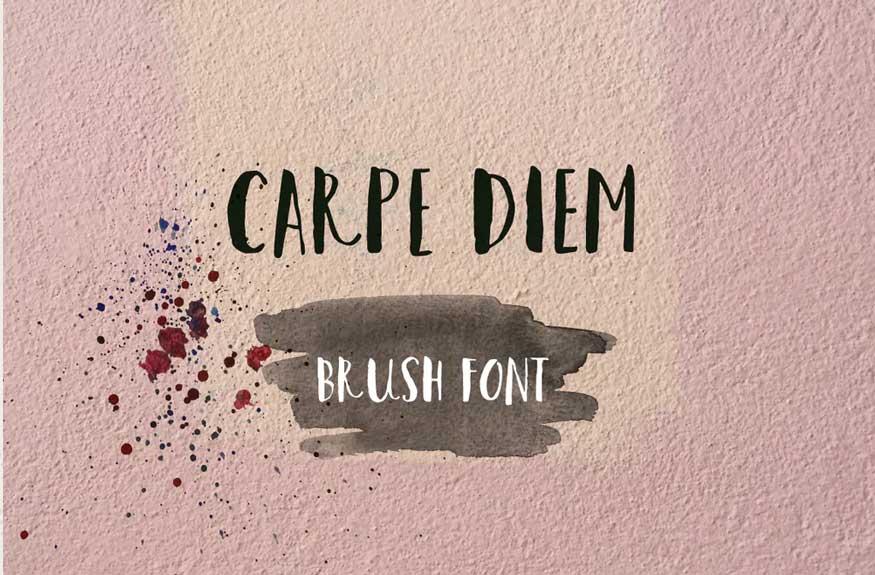 Carpe Diem Brush Font