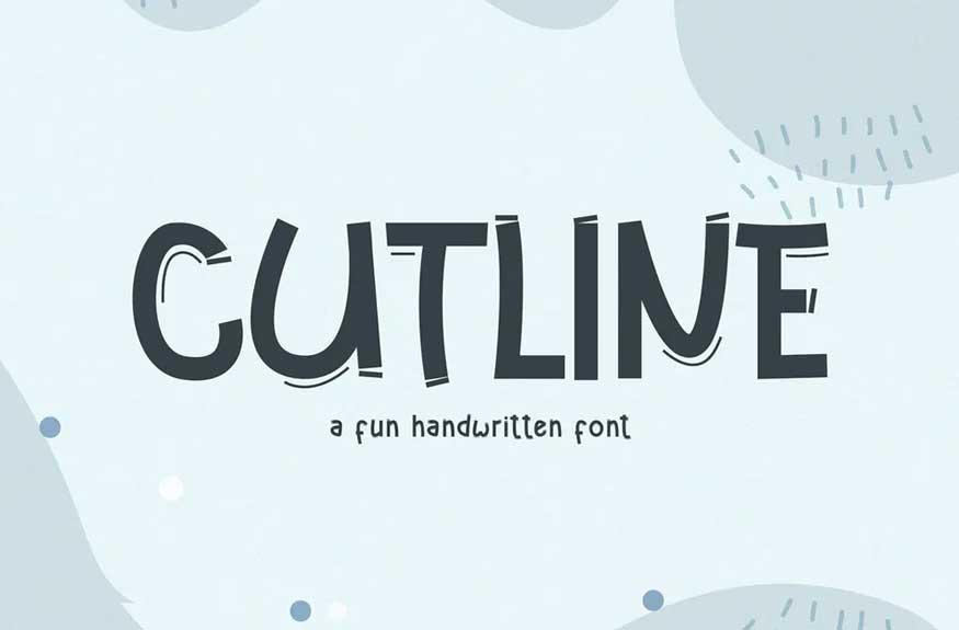 Cutline Font