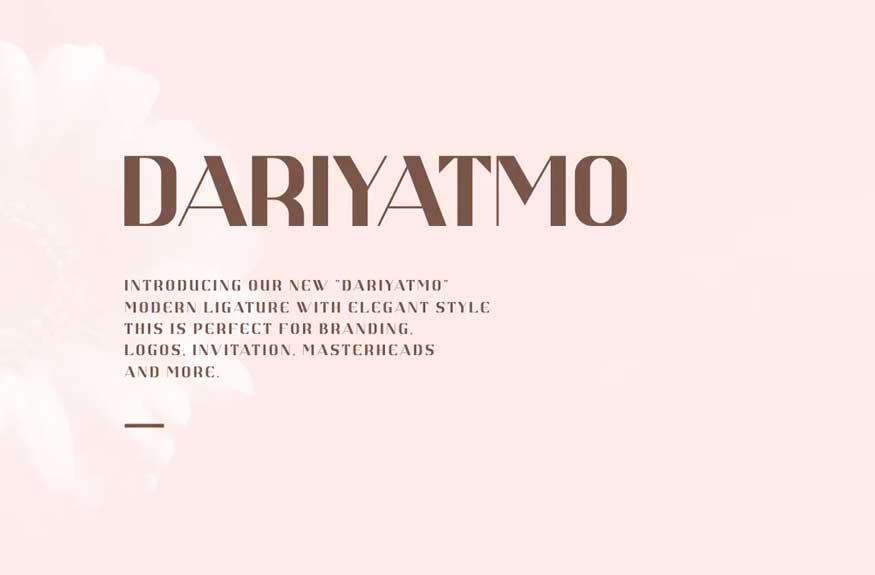 DARIYATMO Font