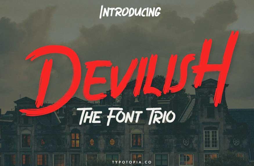 Devilish Trio Font