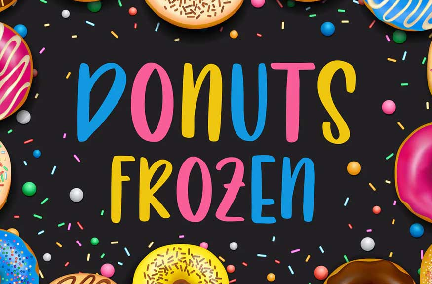 Donuts Frozen Font