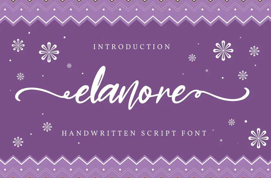 Elanore | Handwritten Script Font