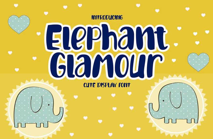 Elephant Glamour Font