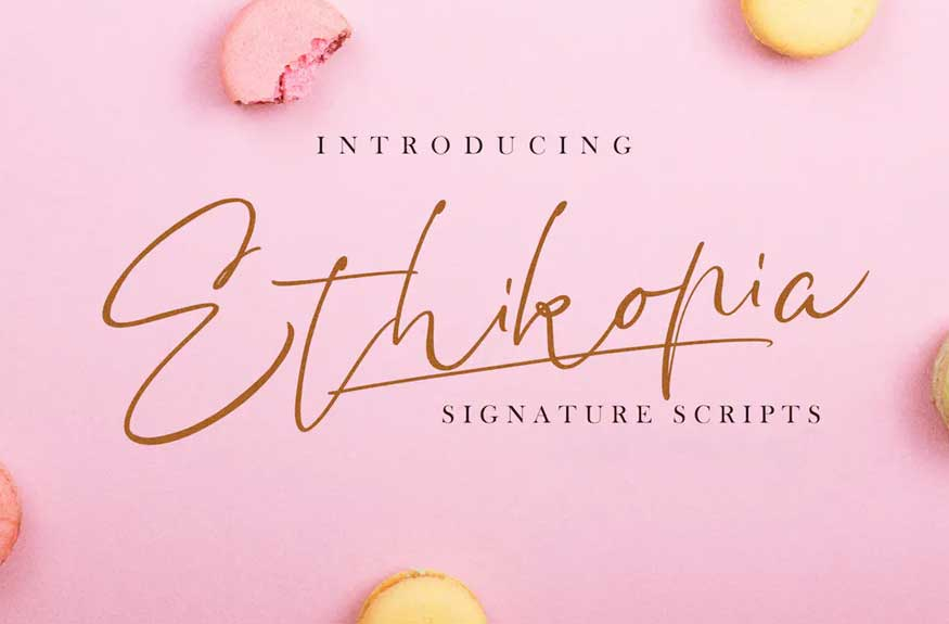 Ethikopia Signature Font