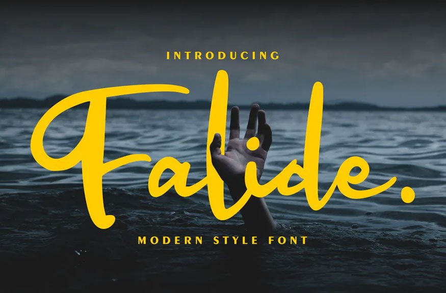 Falide | Modern Style Font