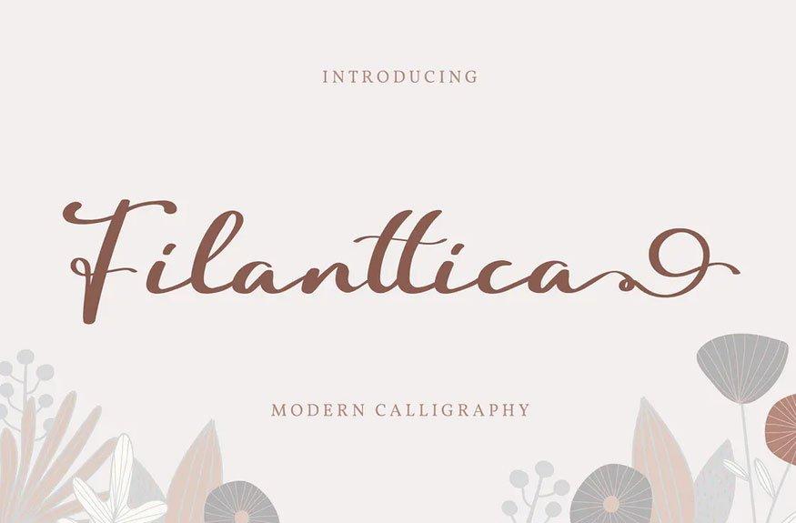 Filanttica | Modern Calligraphy Font