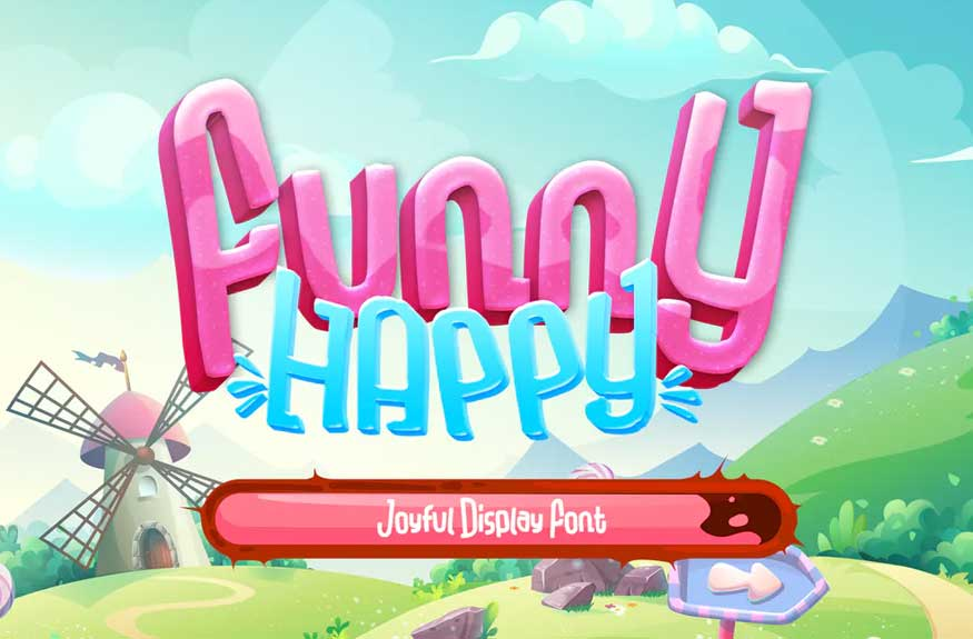 Funny Happy Font