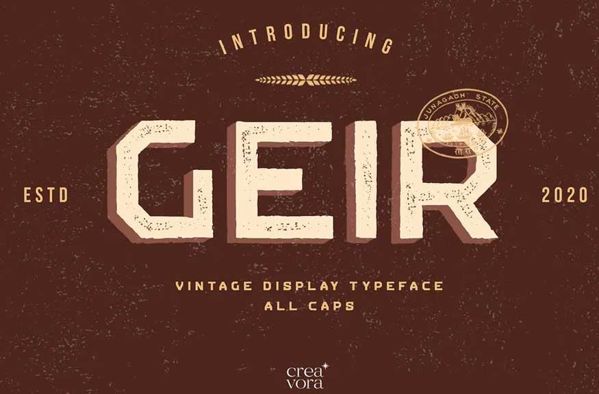 GEIR Font