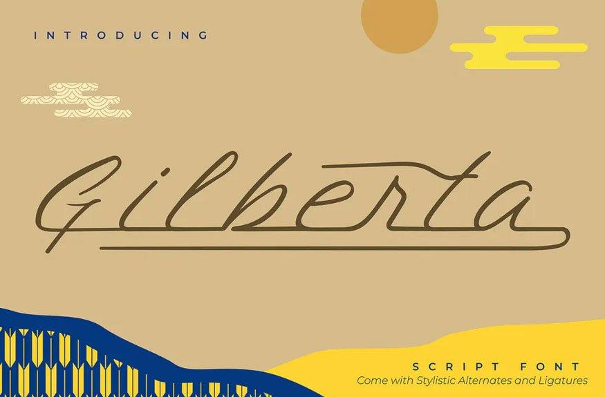Gilberta | Script Font