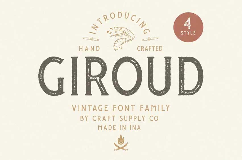 Giroud Vintage Font Family