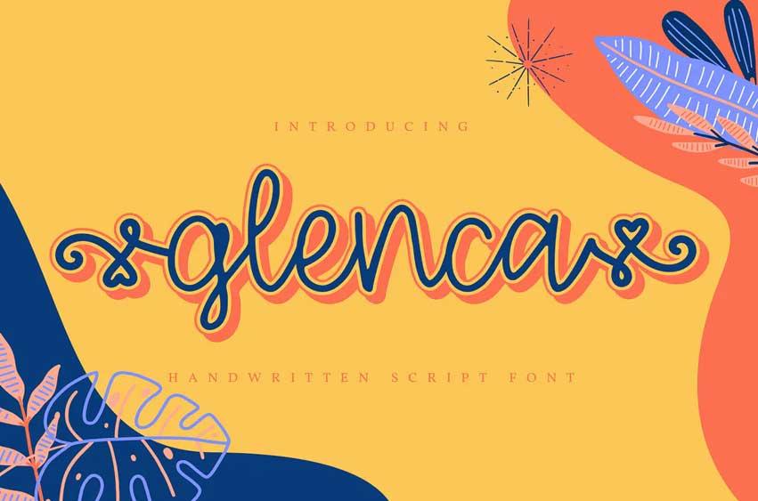 Glenca | Handwritten Script Font