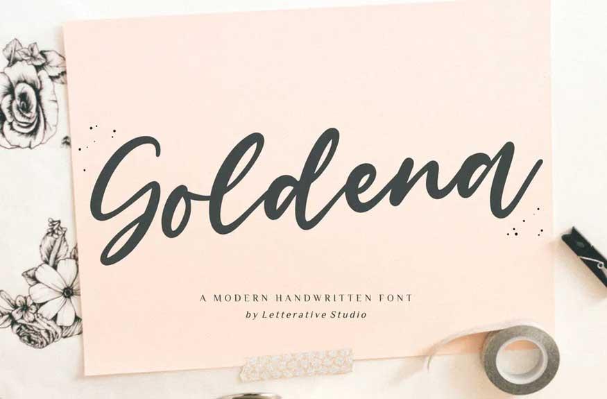 Goldena Handwriting Font