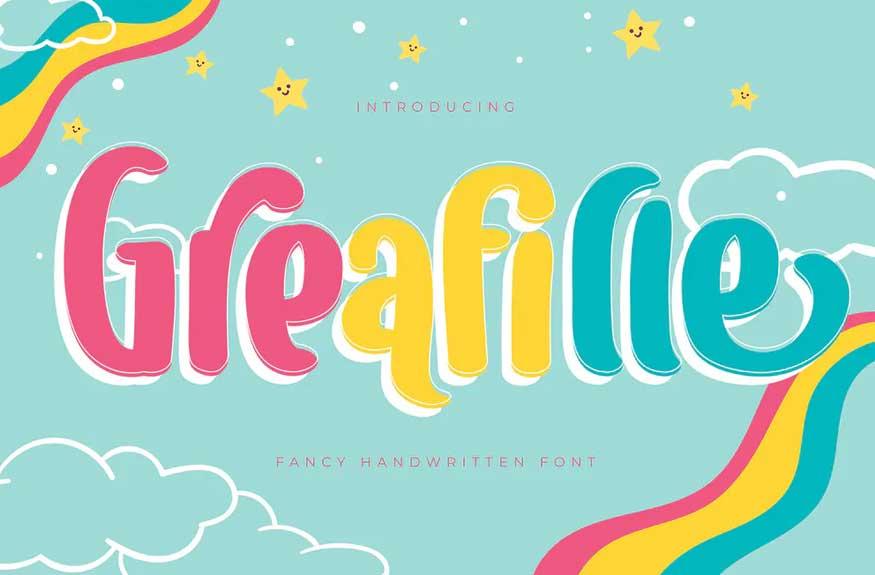 Greafille | Fancy Handwritten Font