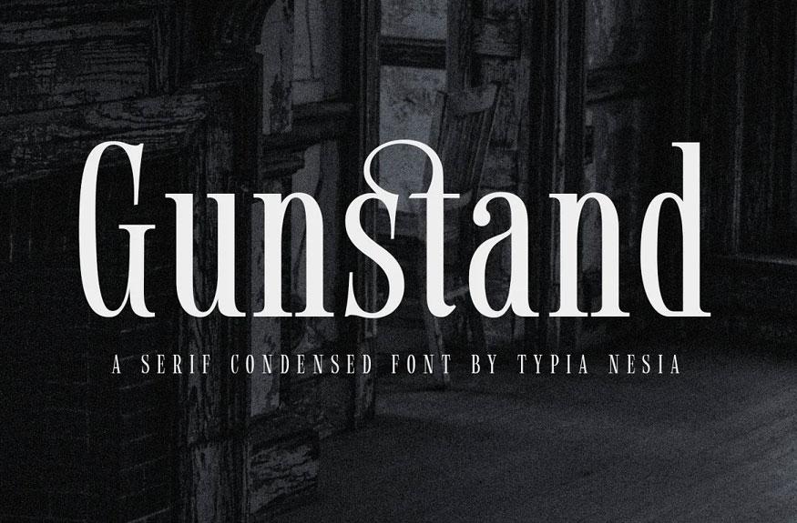 Gunstand - Condensed Serif