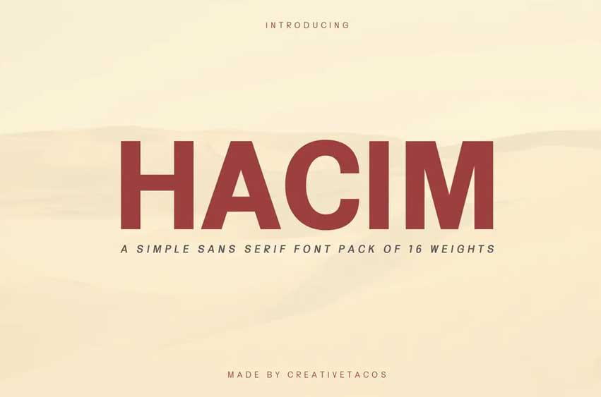 Hacim Simple Sans Serif Font Family